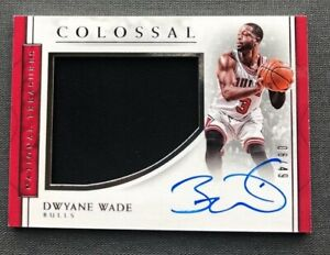 2016-17 National Treasures DWYANE WADE Jersey On Card AUTO Autograph #06/49