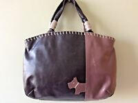 RADLEY real leather small brown and pink tote handbag