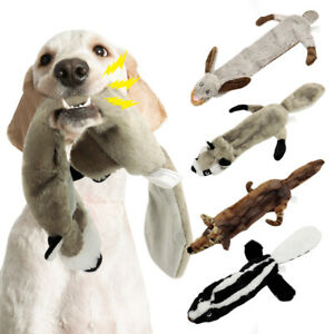 Dog Squeaky Toys for Aggressive Chewers Interactive Unstuffed Plush Pet Chew Toy