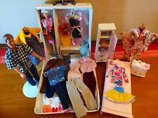 VINTAGE BARBIE DOLLS CASE + CLOTHES + ACCESSORIES & Furniture LOT !!! 55+ piece