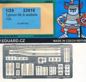 Eduard Typhoon Mk.ib Seatbelts Seat Belts Parts 1:24 For Airfix Model Kit