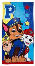 Kids Paw Patrol Hero Marshall Rubble Chase Beach Bath Towel - 70cm X 140cm