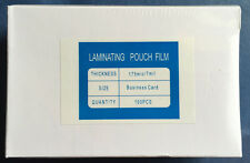 100 Laminating Film Pouches 7 mil 2-5/8x3-15/16 Business Card Size NEW in Box