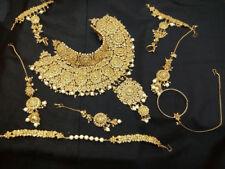 Kundan Jodha Akbar Bridal Jewelry Bollywood 6 Pcs Ethnic Briadal Necklace Sets