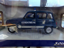 voiture miniature 1/18 SOLIDO          RENAULT 4 GENDARMERIE 1978 de collection