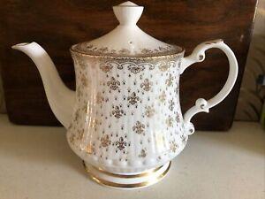 Lovely Large Portmaster Pottery Teapot With Fleur De Lis Design