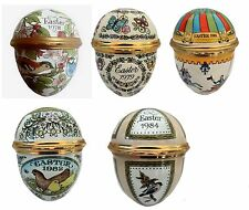 Halcyon Days Enamels Easter Eggs Dated (1978,1979,1981, 1982, 1984)