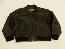 Redskins Flyer Leather Jacket Type B32 Army Civil Black Vintage Size XXL Rare
