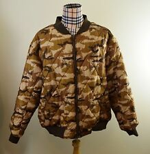 AVIREX Camo & Brown Reversible 3XL 2-1 Jacket Polyester Camouflage Army Outdoor