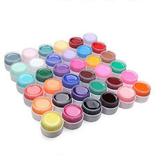36 Pure Colors Extension Nail Art UV Gel Builder Tips Glue Manicure Decor