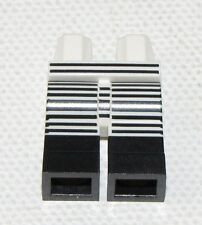LEGO NEW WHITE AND BLACK MINIFIGURE LEGS WITH STRIPES PANTS