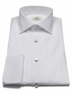 Luigi Borrelli Dress Shirt IN White With Double Cuff And Kent Collar RegEUR420