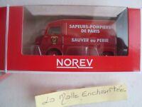 NEW 1/64 3-INCHES CITROEN TUBE HY SAPEURS POMPIERS DE PARIS -NOREV