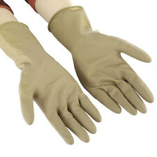 Elbow Long Industrial Rubber Gloves Anti Acid Chemical Resistant Washing Clean