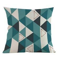 Floral Linen Square Throw Pillow Case Sofa Waist Cushion Cover Home Car Decor 1