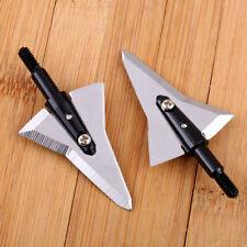 6Pcs Aircraft Broadheads 125Gr Sharp Arrowheads Archery Bow Hunting Tip