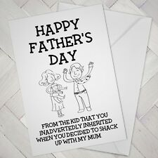 Funny Stepdad FATHERS DAY CARD Cheeky Joke Humour STEP DAD Shack up step-dad