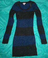 Arizona Jeans Co Girls Sweater Dress Blue and Black Sz Small!