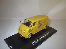 """SCHUCO  DKW  Schnelllaster  (Deutsche Bundespost)  """"Das Schnellpaket""""  1:43  OVP"""