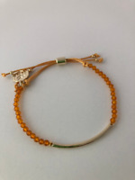 Citrine Power Beads Gemstone Bracelet: Manifesting stone, Abundance Stone