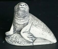 """2008, 3.5"""" Sand Seal or Sea Lion Small Sculpture Figurine Made in Canada white"""