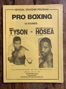 Mike Tyson vs William Hosea 1986 Official Program; Tyson's 23rd Fight & 21st KO