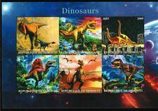 Dinosaurs miniature sheet mnh raptors Tyrannosaurus