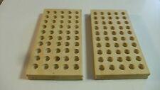 2 Hardwood Reloading Blocks, Reloading Trays - Size 5S - 45 ACP, 30-06, 308