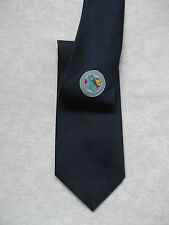 VINTAGE TIE WORLD INDOOR BOWLS COUNCIL 1960S 1970S NAVY BLUE 60'S MATSUDO SPORTS