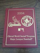 ~ 2004 Boston Red Sox World Series Official Program ~ MLB ~ Willabee & Ward ~