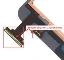 Changement soudure connecteur tactile bouton ipad mini / Micro soudure repair