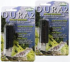 Pair (2) Kool Stop Dura2 Road Bike Brake Pads / Shoes DRY SRAM/SHIMANO BLACK