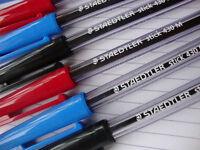 STAEDTLER Sfera Punto Penne - Nero+Blu + Rosso - Confezione Di 10