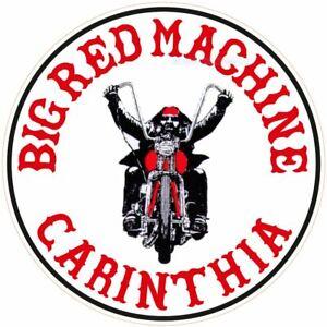 "043b HELLS ANGELS Support 81  Big Red Machine Aufkleber ""Carinthia Biker"""