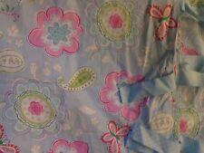 NEW POTTERY BARN KIDS GIRLS SAMANTHA BLUE  FLORAL FULL QUEEN DUVET COVER & SHAMS