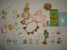 VINTAGE CAKE TOPPER DECORATIONS EASTER ORNAMENTS BIRTHDAY TRINKETS HALLMARK