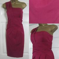 NEW Alexon Shift Party Dress Occasion One Shoulder Deep Red Sz 8-20 £125