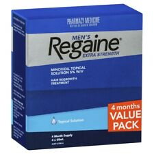 Regaine Men's Extra Strength Topical Solution 4 x 60mL (4 Months Supply) Mens