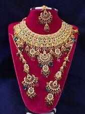 Bridal Jewelry Set W/ Tikka Indian Ashwairiya'S Glamour Jodha Akbar Multi-Color