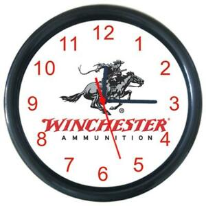 Winchester Arms Sign Round Wall Clock Decor Boys Kids Room