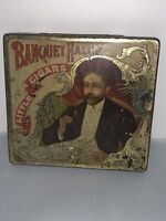 Vintage Banquet Hall Cigar Tin Tobacco Tin Advertising Antique Tin Lithograph
