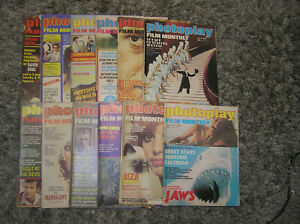 VINTAGE COMPLETE SET OF 12 X PHOTOPLAY FILM MONTHLY MAGAZINES 1976 PLUS BINDER
