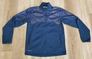 NIKE Tennis Therma-Fit Full Zip Jacket Mens Size M Blue 551662-411 EUC