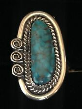 Turquoise and Sterling Silver Rare Women's Ring, Handmade with