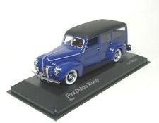 Ford DELUXE v8 woody (bleu/noir) 1940