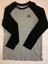 Adidas Athletic Cotton Long Sleeve T-Shirt Kids Size Youth Large (14-16) Gray