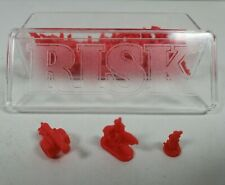 RISK Replacement Red Army Miniatures Game Pieces (60 Pieces) w/Plastic Case