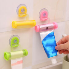 1Pc Toothpaste dispenser rolling squeezer hanging hook suction plastic tube#V