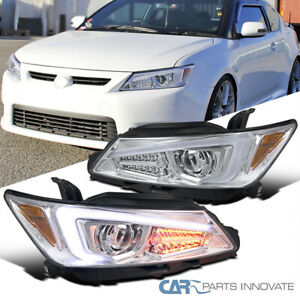 For 11-13 Scion tC Clear LED Signal & Projector Headlights Headlamps Left+Right