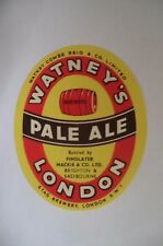 MINT WATNEYS BOTTLED BY FINDLATER BRIGHTON EASTBOURNE BREWERY BOTTLE LABEL